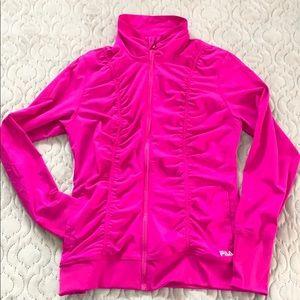 Fila Zip Up jacket Medium Fuschia Purple EUC